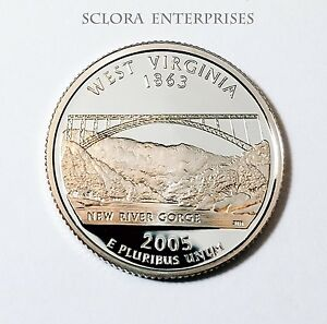 2005 S WEST VIRGINIA  PROOF  STATE QUARTER