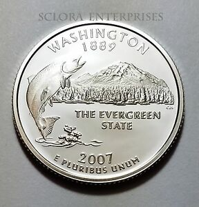 2007 S WASHINGTON   PROOF   STATE QUARTER