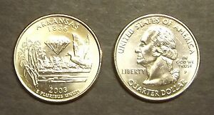 2003 P ARKANSAS STATE QUARTER / UNC  8160A