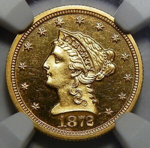 Click now to see the BUY IT NOW Price! 1872 NGC PF64 ULTRA CAMEO $2.50 LIBERTY HEAD GOLD