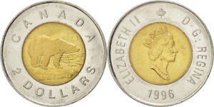 2 DOLLARS   CANADIAN COIN 1996 OR 2005 OR 2007 OR 2009 OR 2011 OR 2012   TOONIE