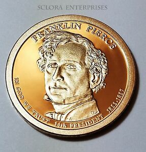 2010 S FRANKLIN PIERCE PRESIDENTIAL   PROOF  DOLLAR COIN