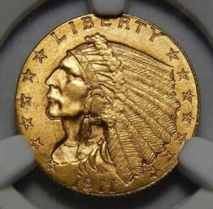 Click now to see the BUY IT NOW Price! 1911 D NGC MS65 STRONG 'D' $2.50 INDIAN HEAD GOLD
