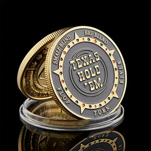 TEXAS HOLD'EM FLOP TURN RIVER BIG SMALL BLIND POKER CHIP GUARDS CARD COIN