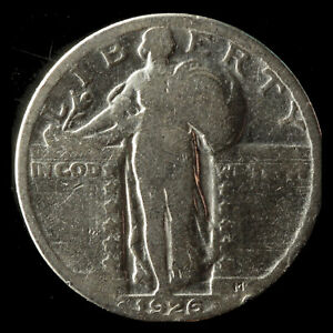 1926 P STANDING LIBERTY 90  SILVER QUARTER SHIPS FREE. BUY 5 FOR $2 OFF