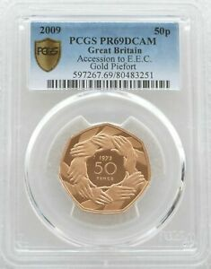 Click now to see the BUY IT NOW Price! 2009 ROYAL MINT ACCESSION HANDS PIEDFORT 50P GOLD PROOF COIN PCGS PR69 DC