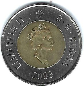 2003 CANADIAN ALMOST UNCIRCULATED $2 TOONIE COIN