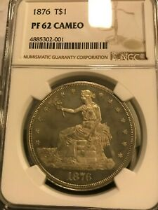 Click now to see the BUY IT NOW Price! 1876 TRADE DOLLAR PR 62 CAMEO