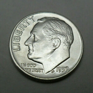 1959 D ROOSEVELT DIME   90  SILVER    GOOD OR BETTER