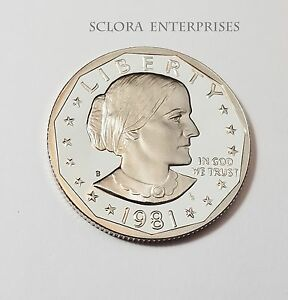 1981 S SUSAN B. ANTHONY  SBA   PROOF  DOLLAR COIN  TYPE I  1