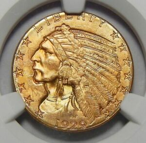 Click now to see the BUY IT NOW Price! 1929 NGC MS65 $5 INDIAN HEAD GOLD