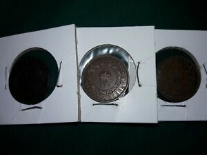 1880 1907 1913 NEW FOUNDLAND CANADA ONE CENTS  NICE THREE COIN CIRCULATED SET