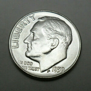 1959 D ROOSEVELT DIME   BU   BRILLIANT UNCIRCULATED