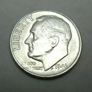 1946 P ROOSEVELT DIME   BU   BRILLIANT UNCIRCULATED