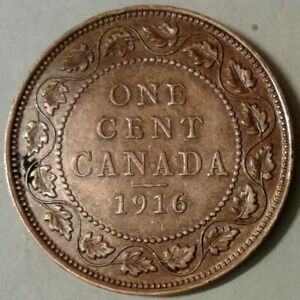 1916 CANADA ONE CENT COIN
