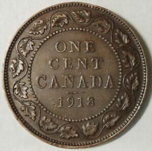 1918 CANADA ONE CENT COIN