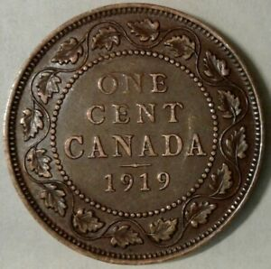 1919 CANADA ONE CENT COIN