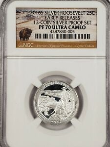 2016 S SILVER T. ROOSEVELT QUARTER PF70UCAM NGC PR70 EARLY RELEASE SILVER PROOF