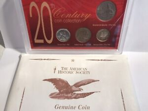 20TH CENTURY COIN COLLECTION 4 COINS   CENT NICKEL DIME QUARTER