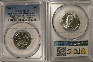 Click now to see the BUY IT NOW Price! 2019 W SAN ANTONIO MISSIONS NP QUARTER PCGS MS68 FIRST WEEK OF DISCOVERY 25C