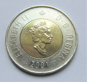 2001 CANADA 2 DOLLAR TOONIE   COMBINED SHIPPING