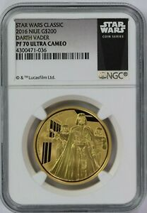 Click now to see the BUY IT NOW Price! 2016 NIUE STAR WARS DARTH VADER $200 1 OZ PROOF GOLD COIN NGC PF 70 ULTRA CAMEO