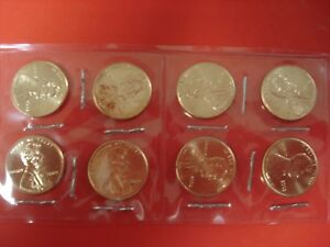 TWO   FOUR COIN SETS LINCOLN BICENTENNIAL 2009 CENTS FROM PHILADELPHIA MINT ROLL
