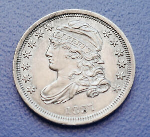1837 U.S. CAPPED BUST DIME   ALMOST UNCIRCULATED CONDITION