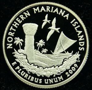 2009 S DEEP CAMEO CLAD PROOF NORTHERN MARIANA ISLANDS QUARTER  C01