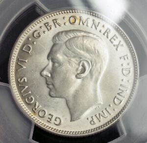 Click now to see the BUY IT NOW Price! 1947 AUSTRALIA GEORGE VI.SILVER FLORIN COIN. POP 147/14. GEM  PCGS MS64