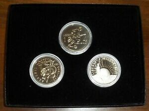LOT OF THREE CLAD COMMEMORATIVE PROOFS IN PRESENTATION BOX   FREE US S&H