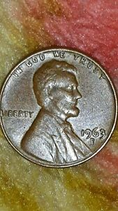 1963 D LINCOLN MEMORIAL CENT  W/ REPUNCHED MINT MARK RPM ERROR .3/3 AND  D/D/D