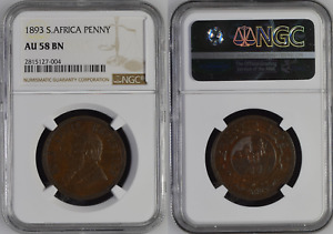 1893 PENNY PAUL KRUGER PRE BOER WAR ZAR COIN FROM SOUTH AFRICA