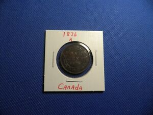 1876 H CANADA LARGE CENT 1 CENT PENNY   EXCELLENT EXAMPLE