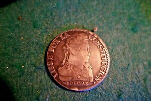 SILVER COIN OF SIMON BOLIVAR  1830  8 SOLES