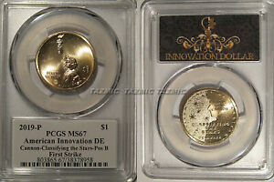 Click now to see the BUY IT NOW Price! 2019 P INNOVATION DOLLAR $1 DELAWARE PCGS MS67 POSITION B FIRST STRIKE