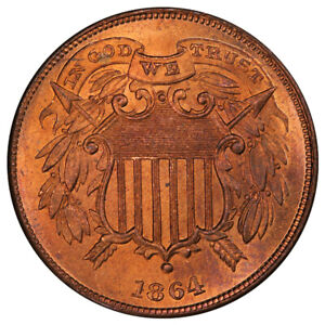 Click now to see the BUY IT NOW Price! 1864 2C SMALL MOTTO PCGS MS65RD