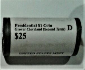 2012 D PRESIDENTIAL DOLLARS   CLEVELAND 2ND  1 ROLL OF 25   US MINT ROLLED