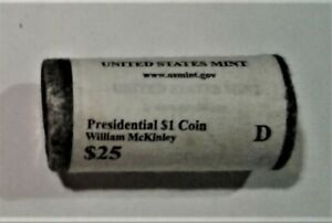 2013 D PRESIDENTIAL DOLLARS   MCKINLEY  1 ROLL OF 25   US MINT ROLLED