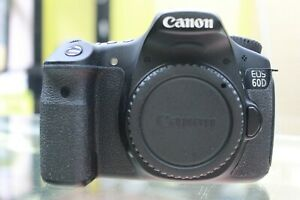 CANON EOS 60D 18.0MP DIGITAL SLR CAMERA   BLACK  BODY ONLY