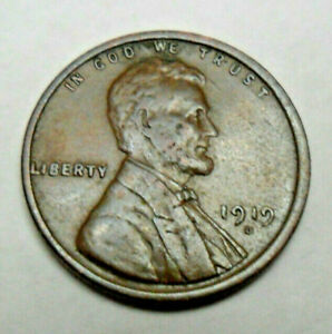 1919 D LINCOLN WHEAT CENT / PENNY  XF   LY FINE
