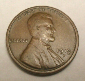 1919 D LINCOLN WHEAT CENT / PENNY    F   FINE