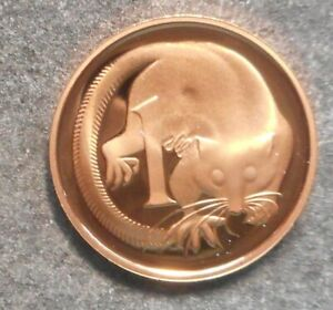 AUSTRALIA 1984  FEATHER TAILED GLIDER  1 CENT  PROOF COIN    NICE