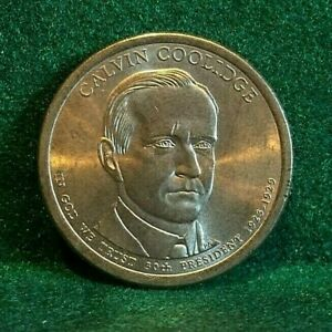PRESIDENTIAL DOLLAR SERIES CALVIN COOLIDGE 2014 P AU   FROM BANK ROLL