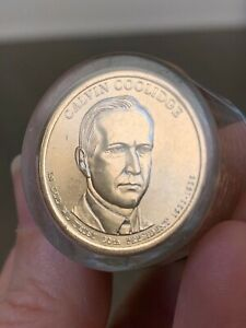 CALVIN COOLIDGE PRESIDENTIAL DOLLAR  ROLL OF 12 COINS  2014 P UNCIRCULATED