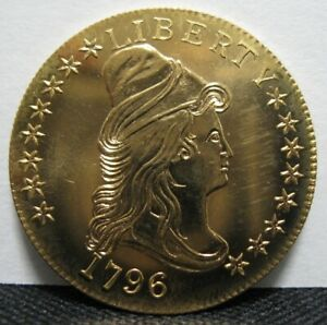 Click now to see the BUY IT NOW Price! GALLERY MINT MUSEUM COPY 1796 $10 EAGLE GOLD DRAPED BUST TYPE 1