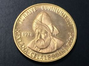 Click now to see the BUY IT NOW Price! 1978 TURKEY 500 LIRA GOLD PROOF   DEATH OF JALALADDIN RUMI   TURKISH SOVEREIGN