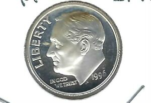 1996 S SAN FRANCISCO SILVER DIME IS FROM A PROOF SET