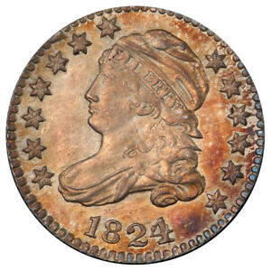 Click now to see the BUY IT NOW Price! 1824/2 10C PCGS MS64  CAC