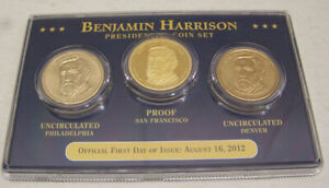 2012 BENJAMIN HARRISON PRESIDENTIAL FIRST DAY OF ISSUE P D & S SET   SEALED
